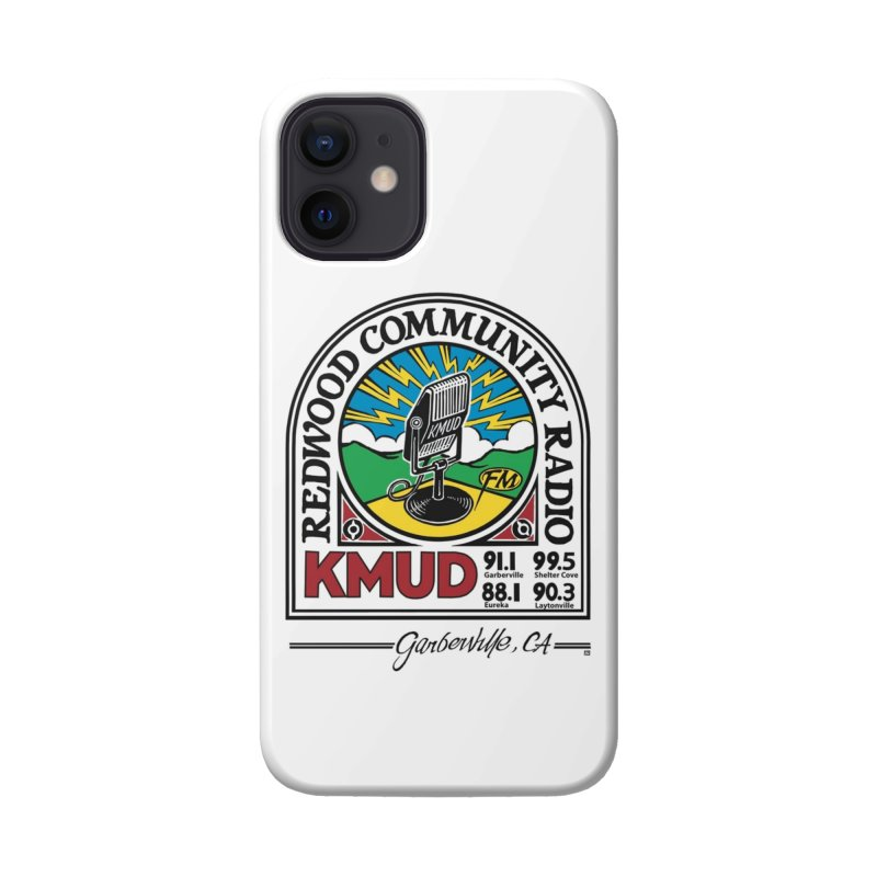 Microphone Logo Accessories Phone Case by Redwood Community Radio