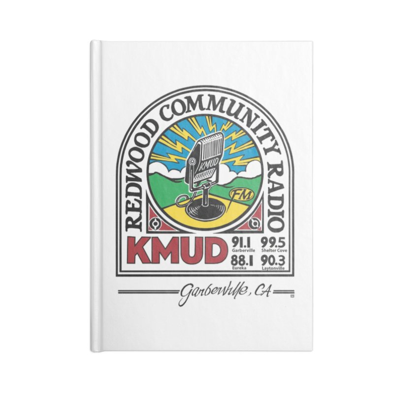 Microphone Logo Accessories Notebook by Redwood Community Radio
