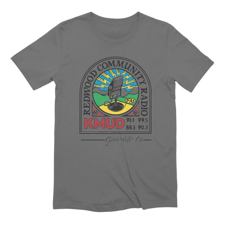 Microphone Logo Men's T-Shirt by Redwood Community Radio