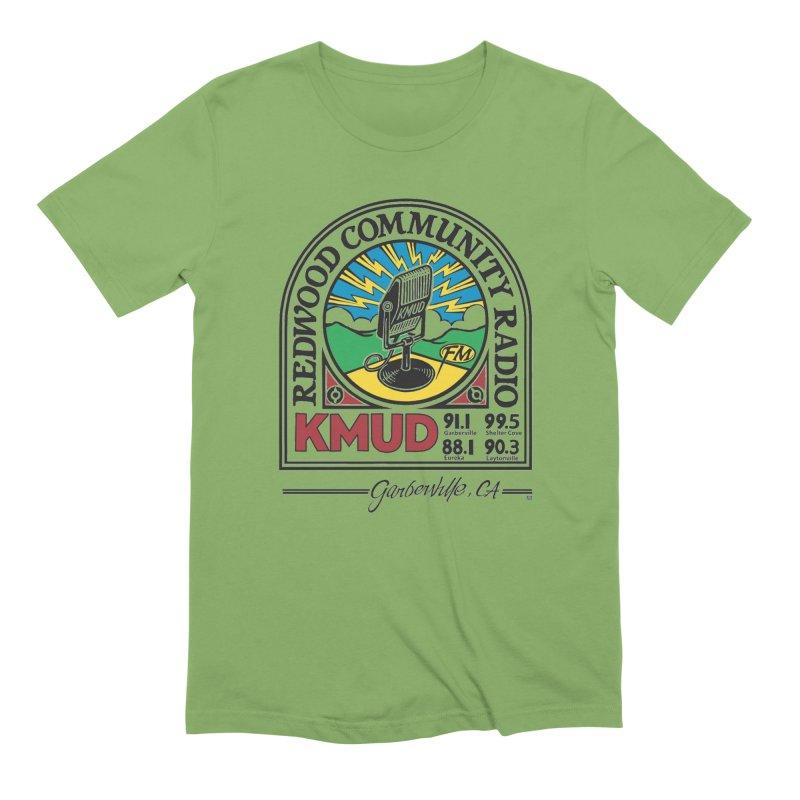 Microphone Logo Men's T-Shirt by Redwood Community Radio