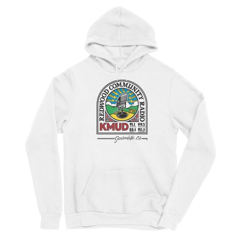Microphone Logo Men's Pullover Hoody by Redwood Community Radio
