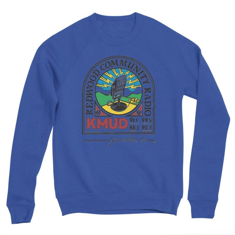 Microphone Logo Men's Sweatshirt by Redwood Community Radio