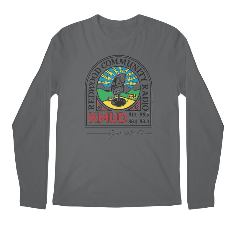 Microphone Logo Men's Longsleeve T-Shirt by Redwood Community Radio