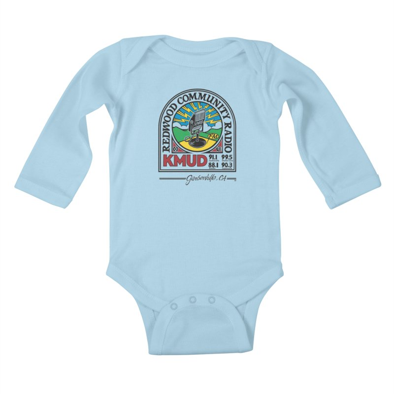 Microphone Logo Kids Baby Longsleeve Bodysuit by Redwood Community Radio