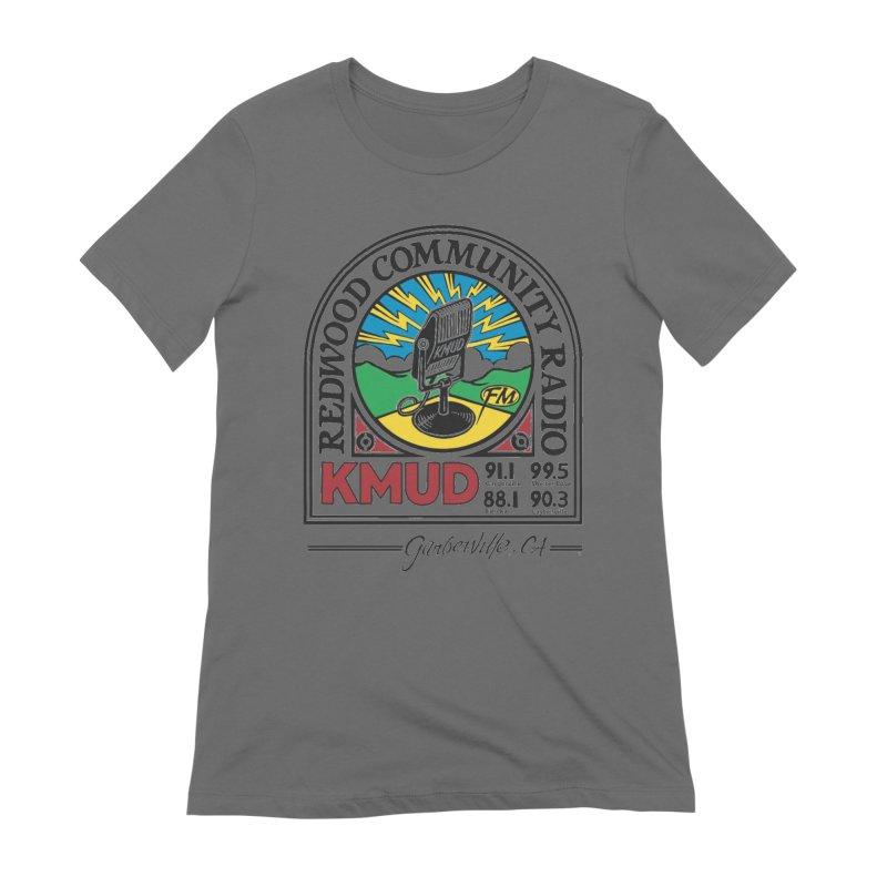 Microphone Logo Women's T-Shirt by Redwood Community Radio