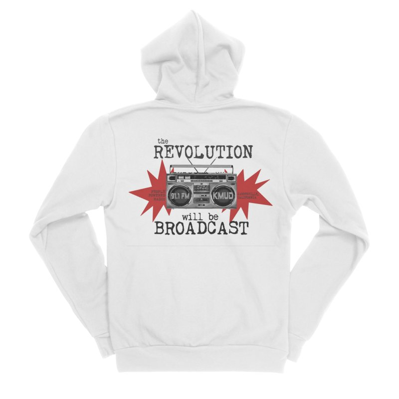 Boombox Revolution Men's Zip-Up Hoody by Redwood Community Radio