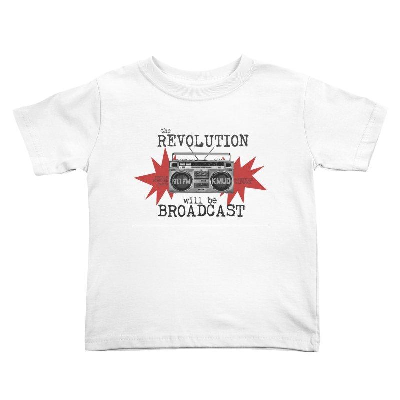 Boombox Revolution Kids Toddler T-Shirt by Redwood Community Radio