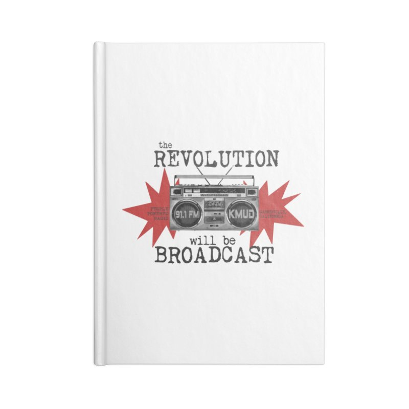Boombox Revolution Accessories Notebook by Redwood Community Radio