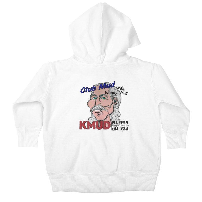 Club Mud with Johnny Why Kids Baby Zip-Up Hoody by Redwood Community Radio