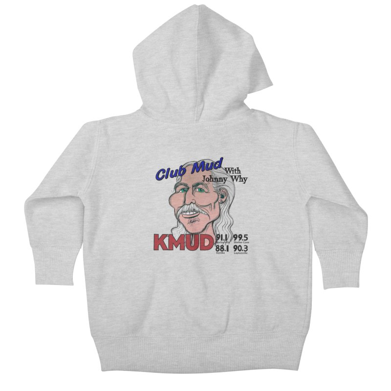Club Mud with Johnny Why Kids Baby Zip-Up Hoody by Redwood Community Radio