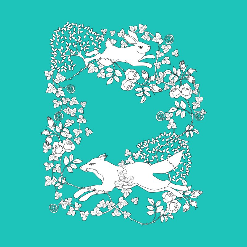 Spring Fox and Hare Men's T-Shirt by KSArtDesign's Shop