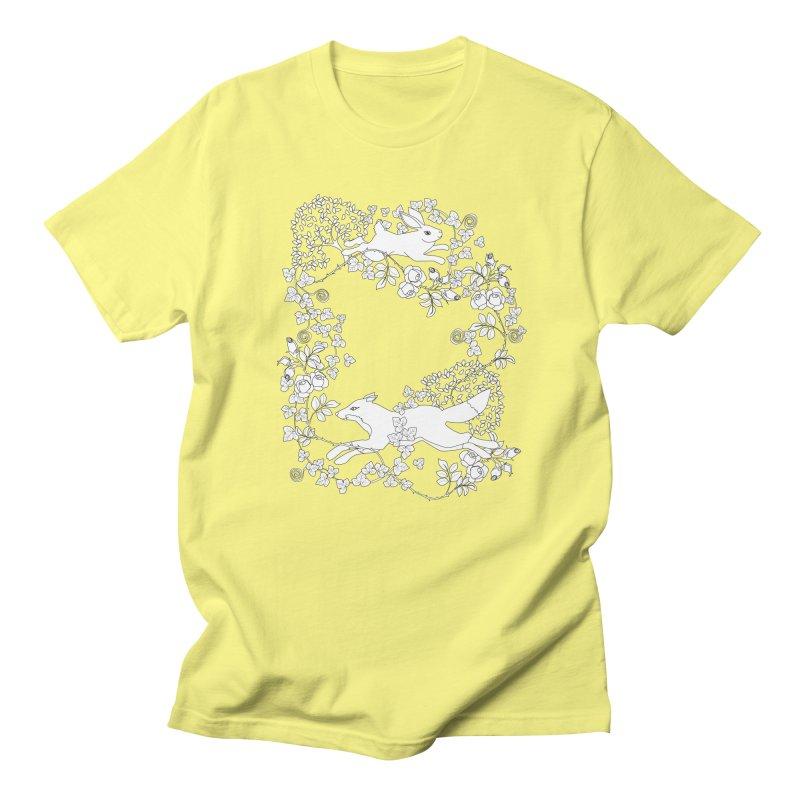 Spring Fox and Hare Men's T-Shirt by KSArtDesign's Shop