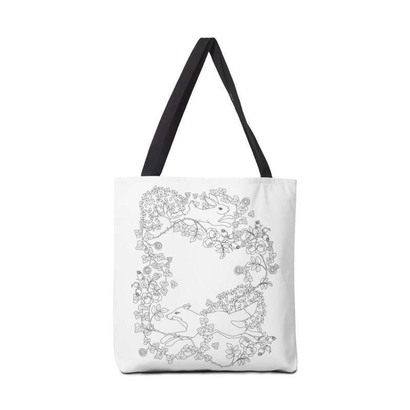 Spring Fox and Hare Accessories Bag by KSArtDesign's Shop