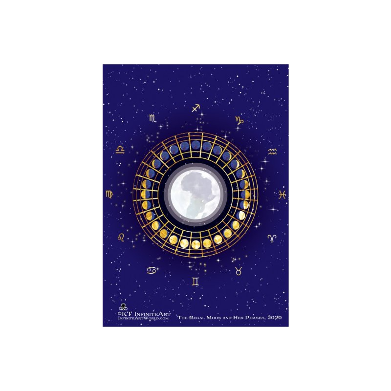 SPRL-The Regal Moon and Her Phases Accessories Greeting Card by KTInfiniteArt's Artist Shop