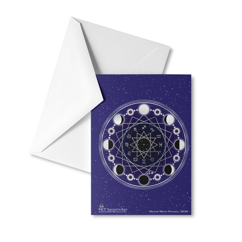 SPRL - silver moon phases Accessories Greeting Card by KTInfiniteArt's Artist Shop