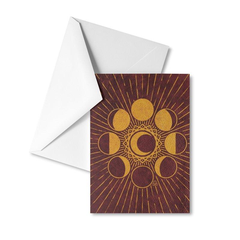 Moon Mystery 1- ylo-brn Accessories Greeting Card by KTInfiniteArt's Artist Shop