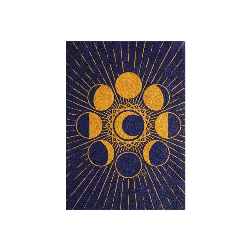 Moon Mystery 2- ylo-dark blue Accessories Greeting Card by KTInfiniteArt's Artist Shop