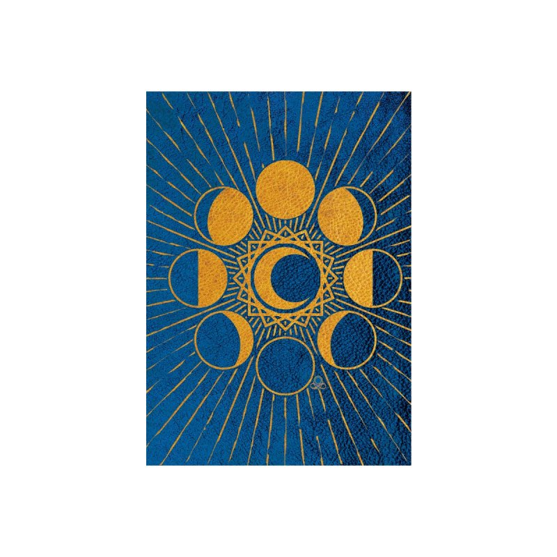 Moon Mystery 3- ylo-cobalt blue Accessories Greeting Card by KTInfiniteArt's Artist Shop