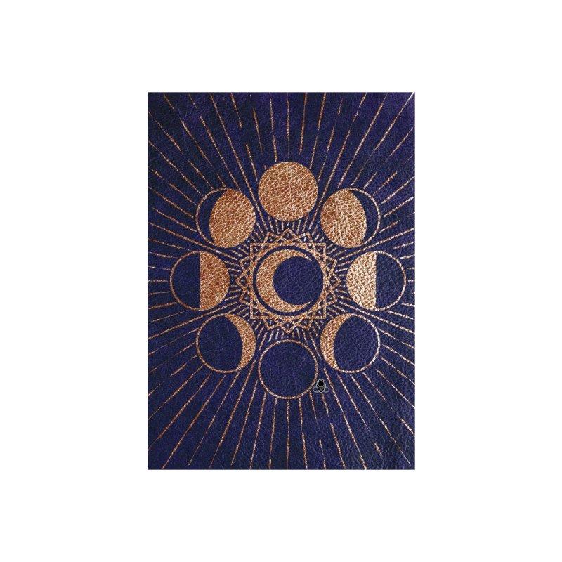 Moon Mystery 4- beige -drk blue Accessories Greeting Card by KTInfiniteArt's Artist Shop