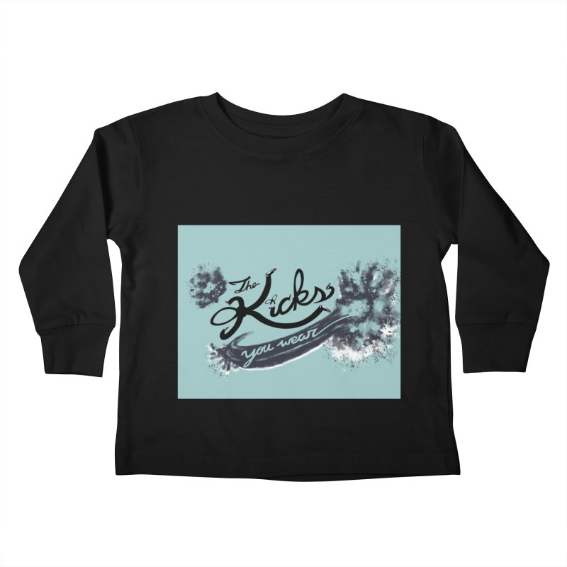 KYW x 100 Miles n Runnin' Boxed Kids Toddler Longsleeve T-Shirt by KYW's Artist Shop