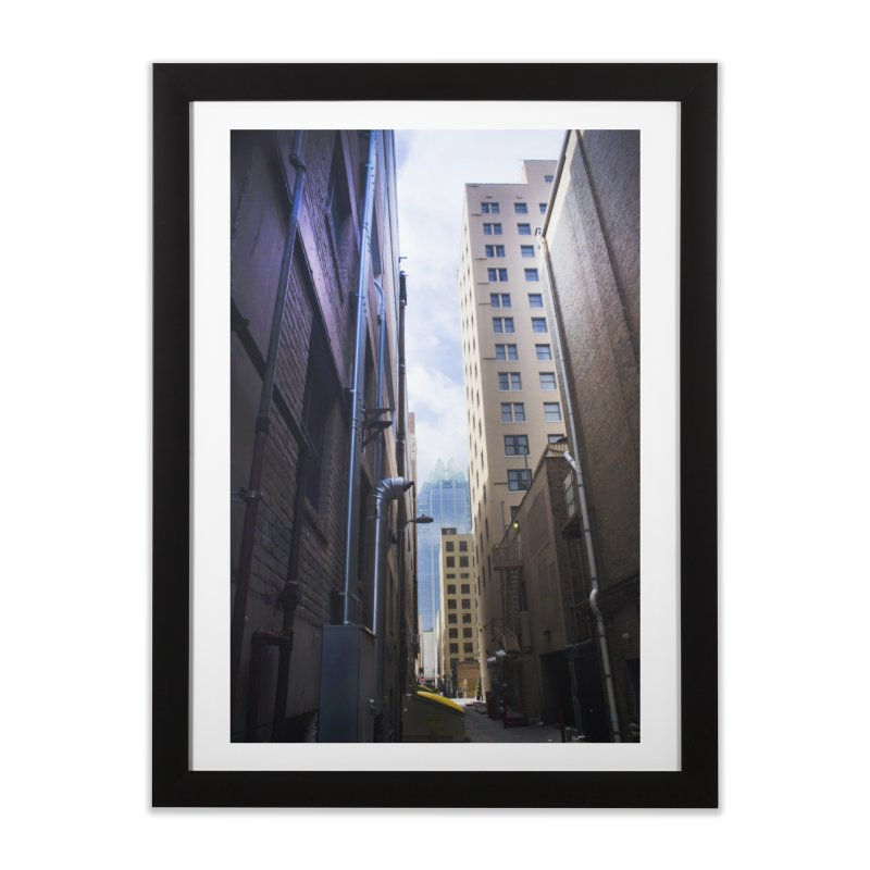 Alley Atx Home Framed Fine Art Print by Kamaukai's Artist Shop