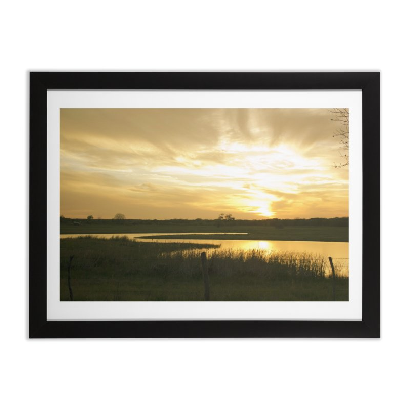Country sunset Home Framed Fine Art Print by Kamaukai's Artist Shop
