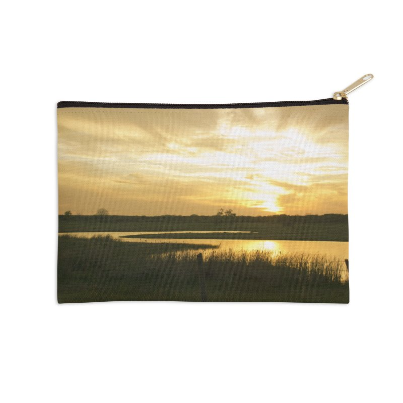 Country sunset Accessories Zip Pouch by Kamaukai's Artist Shop