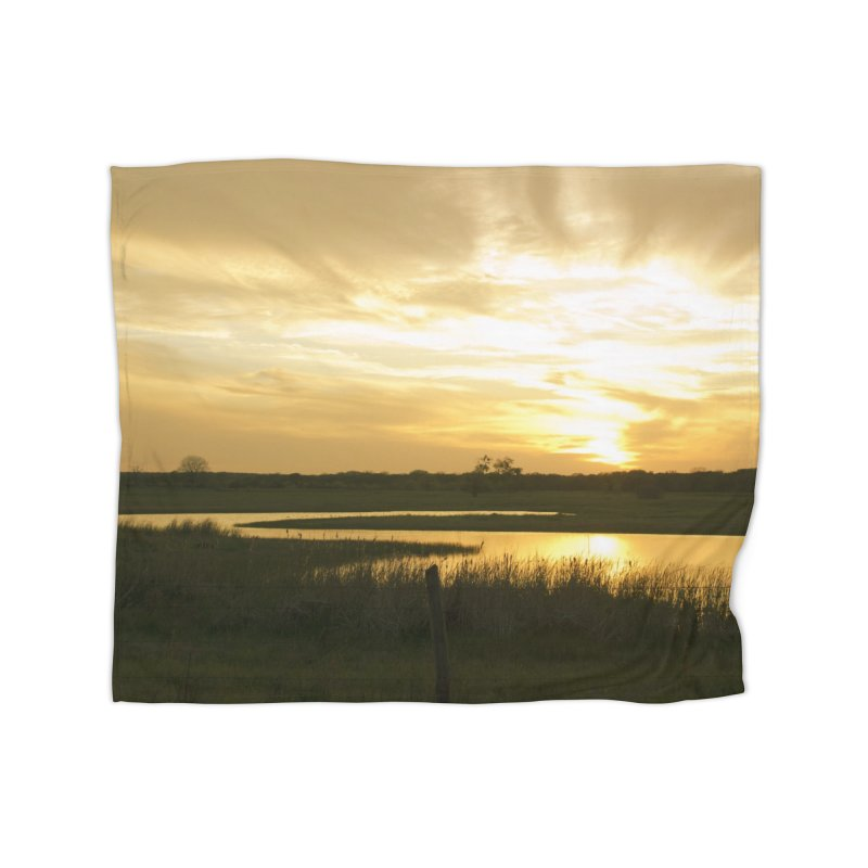Country sunset Home Blanket by Kamaukai's Artist Shop