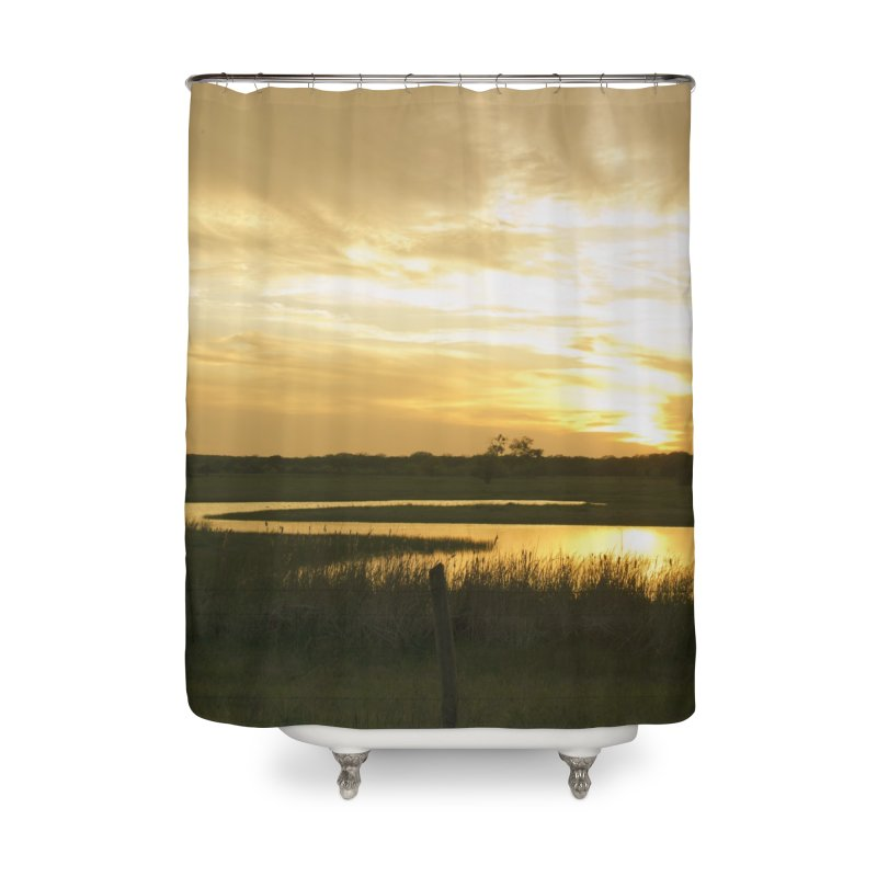 Country sunset Home Shower Curtain by Kamaukai's Artist Shop