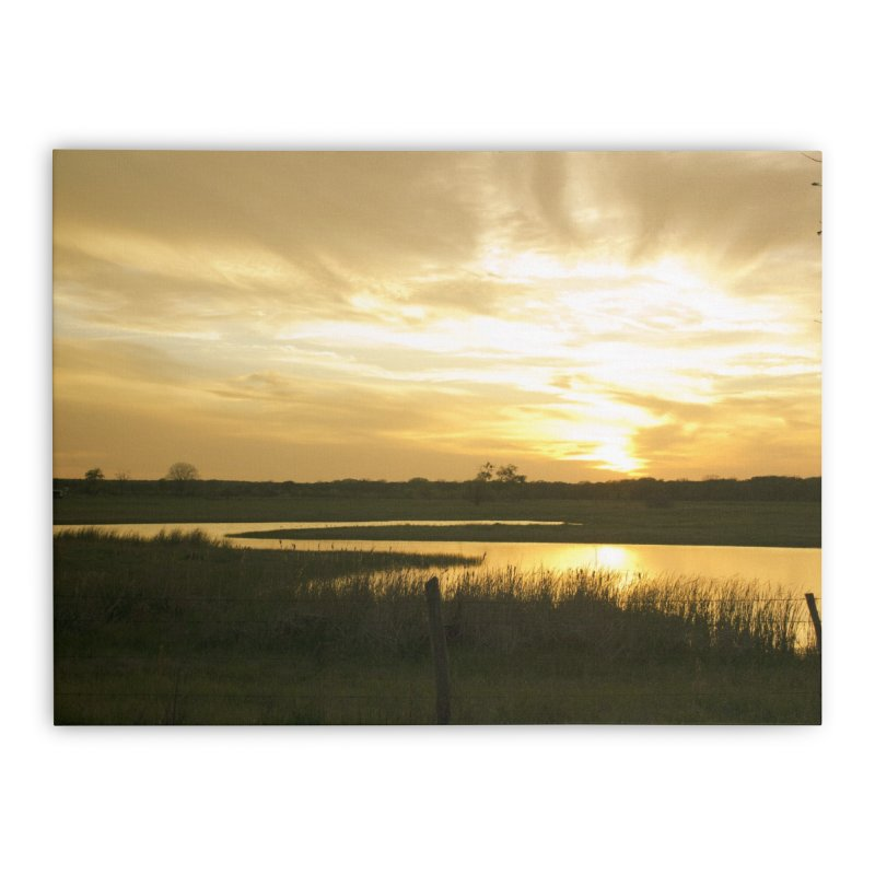 Country sunset Home Stretched Canvas by Kamaukai's Artist Shop
