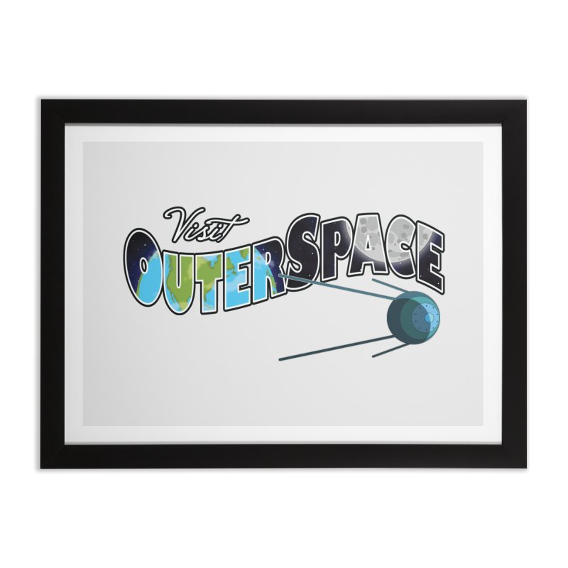 See The Stars, Visit Outer Space Home Framed Fine Art Print by Kamonkey's Artist Shop