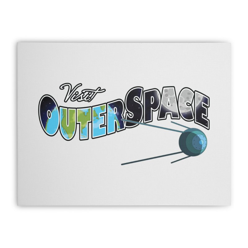 See The Stars, Visit Outer Space Home Stretched Canvas by Kamonkey's Artist Shop