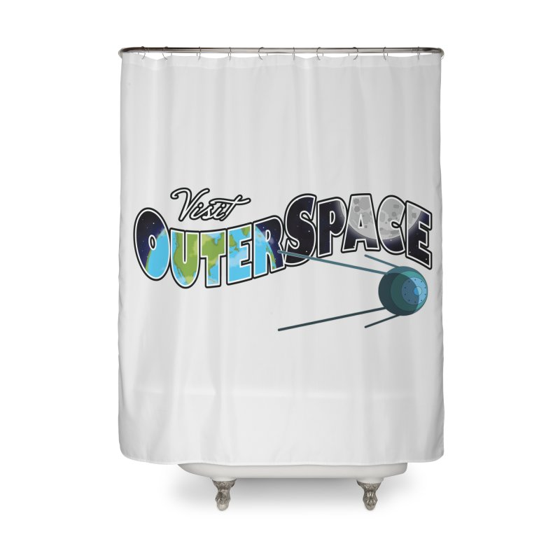 See The Stars, Visit Outer Space Home Shower Curtain by Kamonkey's Artist Shop