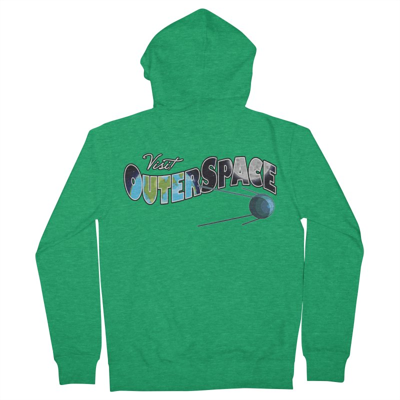 See The Stars, Visit Outer Space Men's French Terry Zip-Up Hoody by Kamonkey's Artist Shop