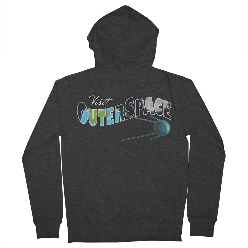 See The Stars, Visit Outer Space Men's Zip-Up Hoody by Kamonkey's Artist Shop
