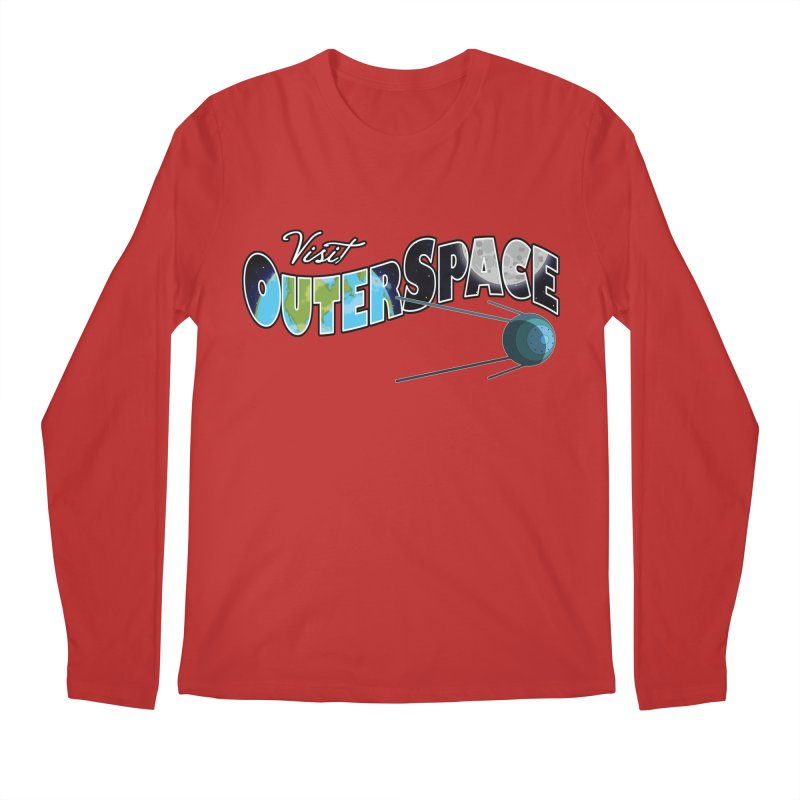 See The Stars, Visit Outer Space Men's Regular Longsleeve T-Shirt by Kamonkey's Artist Shop
