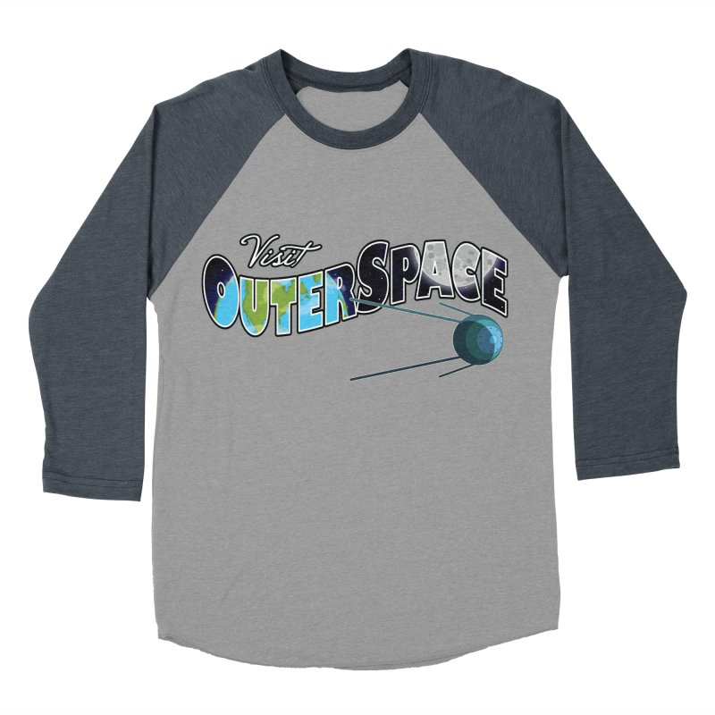 See The Stars, Visit Outer Space Men's Baseball Triblend Longsleeve T-Shirt by Kamonkey's Artist Shop
