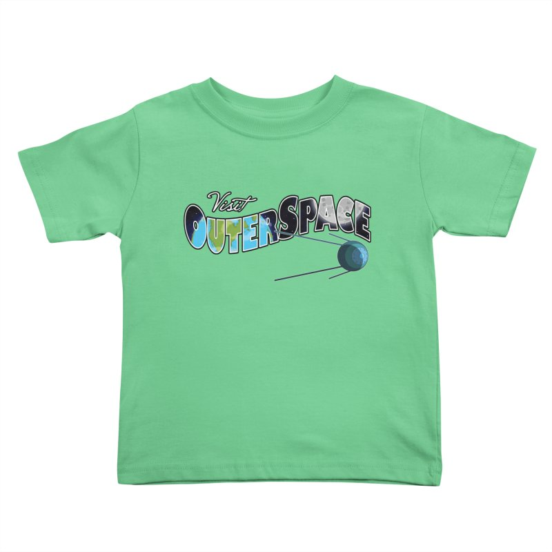 See The Stars, Visit Outer Space Kids Toddler T-Shirt by Kamonkey's Artist Shop