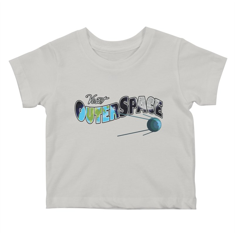 See The Stars, Visit Outer Space Kids Baby T-Shirt by Kamonkey's Artist Shop