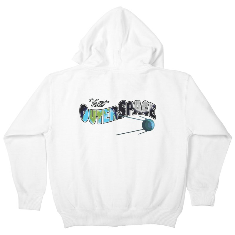 See The Stars, Visit Outer Space Kids Zip-Up Hoody by Kamonkey's Artist Shop