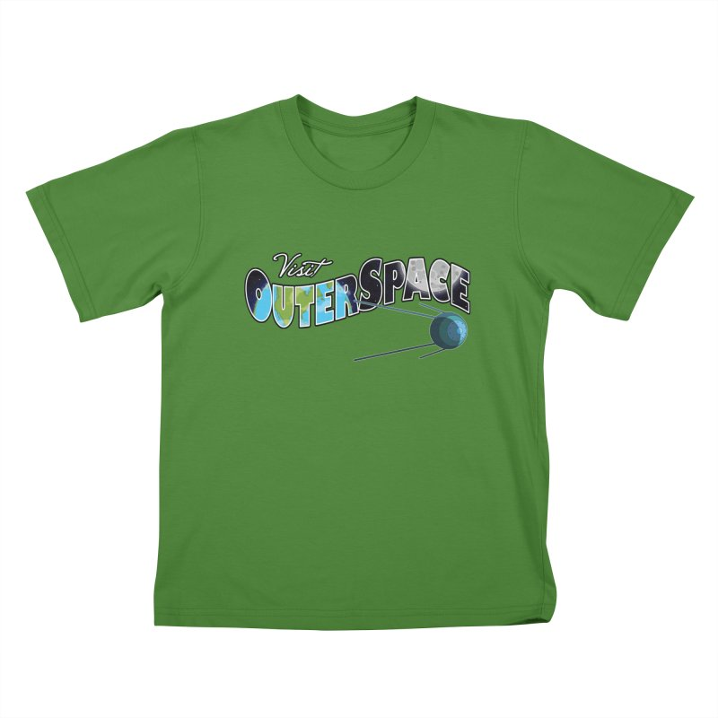 See The Stars, Visit Outer Space Kids T-Shirt by Kamonkey's Artist Shop