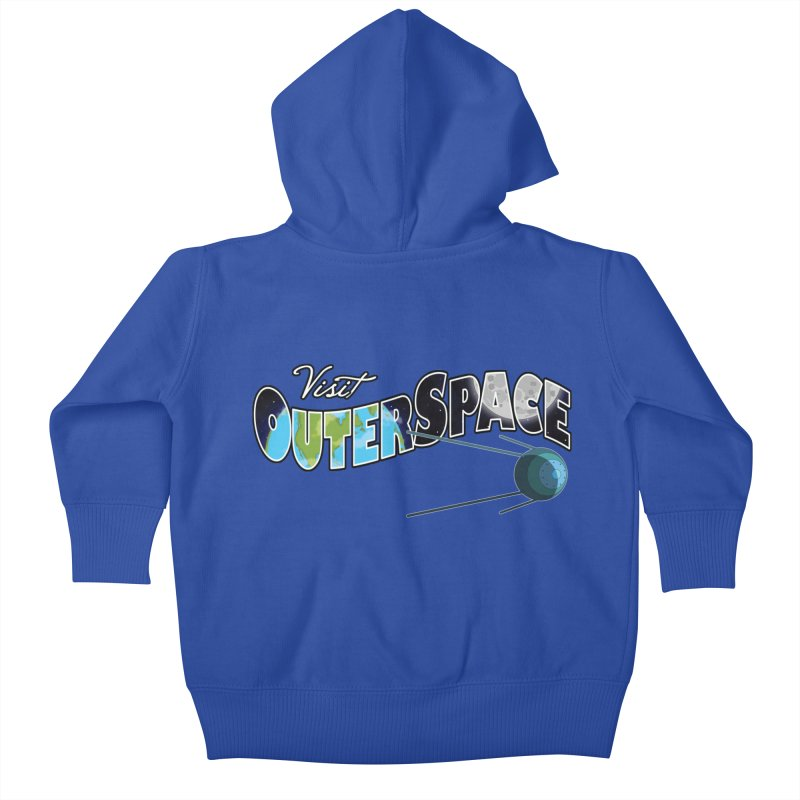 See The Stars, Visit Outer Space Kids Baby Zip-Up Hoody by Kamonkey's Artist Shop