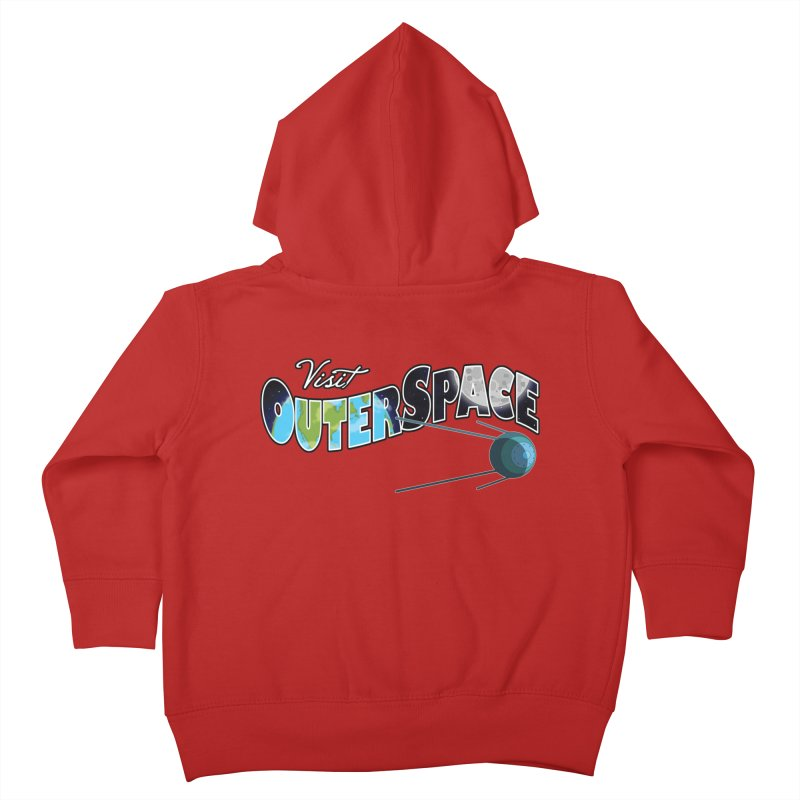 See The Stars, Visit Outer Space Kids Toddler Zip-Up Hoody by Kamonkey's Artist Shop