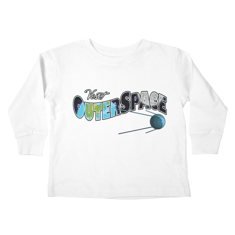 See The Stars, Visit Outer Space Kids Toddler Longsleeve T-Shirt by Kamonkey's Artist Shop