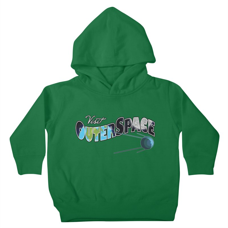 See The Stars, Visit Outer Space Kids Toddler Pullover Hoody by Kamonkey's Artist Shop