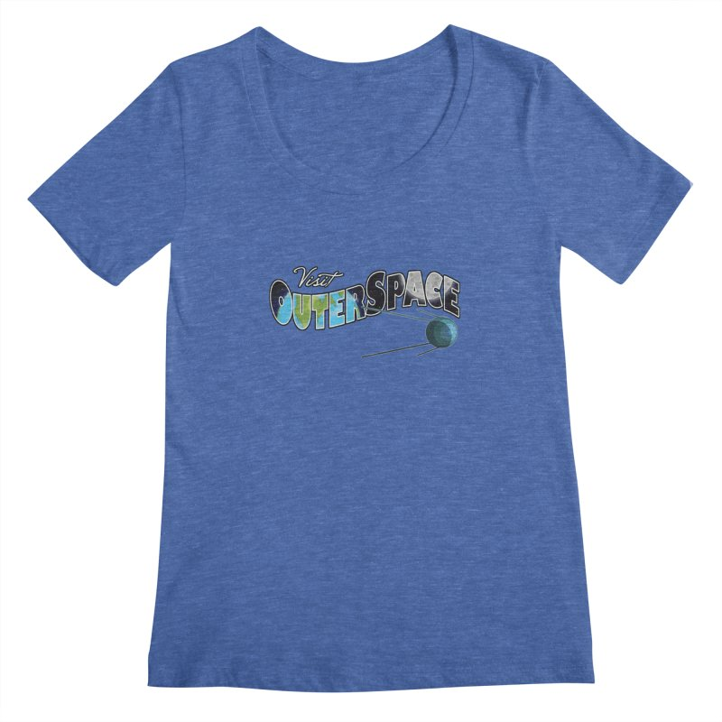 See The Stars, Visit Outer Space Women's Regular Scoop Neck by Kamonkey's Artist Shop