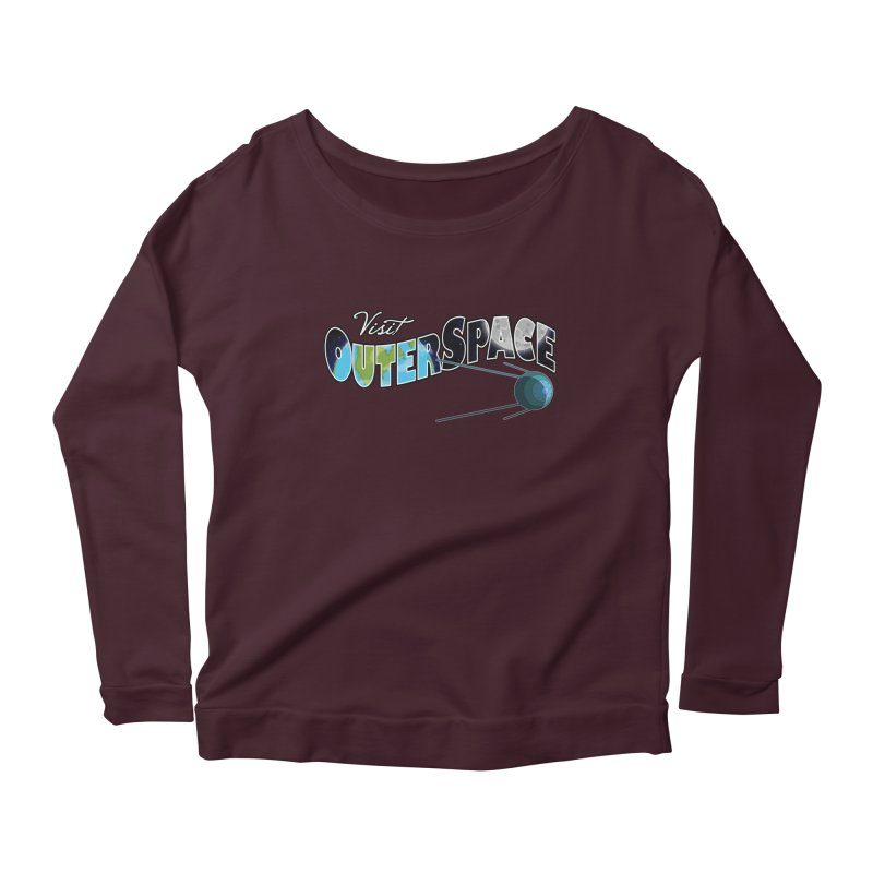 See The Stars, Visit Outer Space Women's Scoop Neck Longsleeve T-Shirt by Kamonkey's Artist Shop