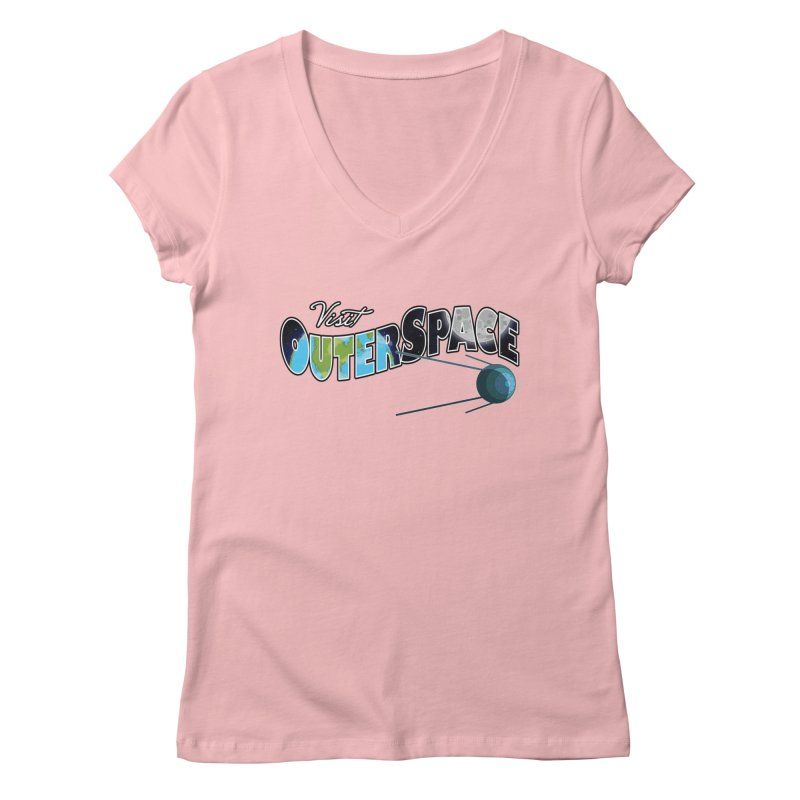 See The Stars, Visit Outer Space Women's V-Neck by Kamonkey's Artist Shop