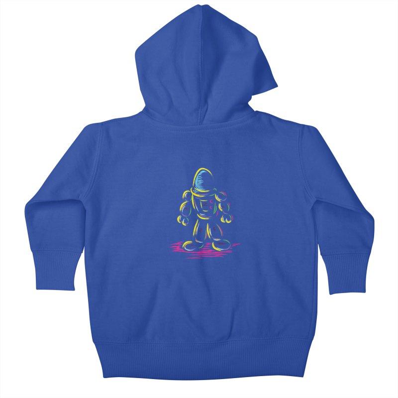 The Technicolor Kids Robot Kids Baby Zip-Up Hoody by Kamonkey's Artist Shop