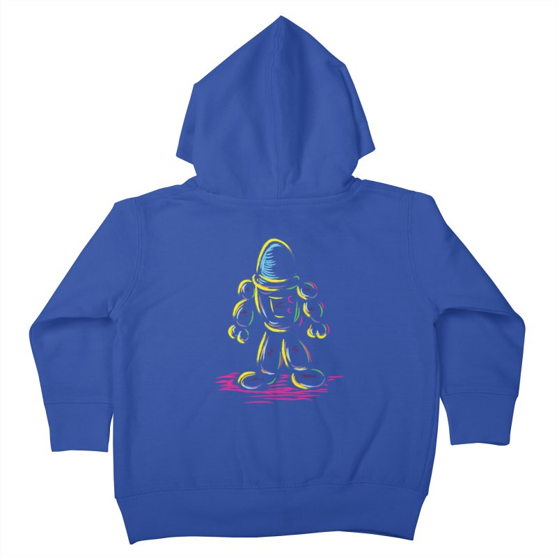 The Technicolor Kids Robot Kids Toddler Zip-Up Hoody by Kamonkey's Artist Shop